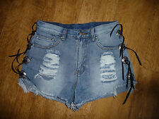 Freak of Nature distressed denim shorts Uk10