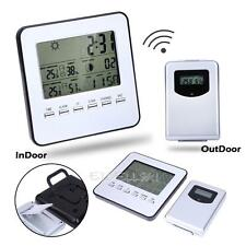 Wireless Indoor/Outdoor Weather Forecaster Station Thermometer Humidity Clock