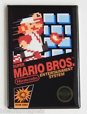 Super Mario Bros FRIDGE MAGNET (2 x 3 inches) video game box nes