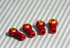 M3 METAL ROD ENDS For Aluminum Link Ends  RED  (4PCS)