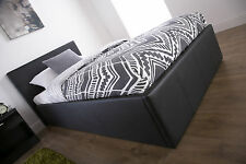 Ottoman Storage Bed 3FT 4FT 4FT6 5FT Gas Lift Bed Available In Black Brown White