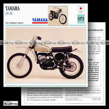 #018.13 YAMAHA 250 MX 1973 Cross Fiche Moto Trail Bike Motorcycle Card