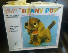 vintage bonny pup battery operated remote control toy item no. 286 tested works