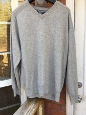DANIEL CREMIEUX 100% Cashmere Gray Sweater XL Men's A118