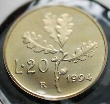 1994  Repubblica Italiana 20 lire  FONDO SPECCHIO  da divisionale