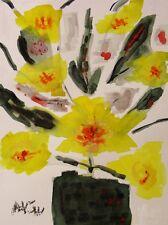 ORIGINAL Flowers NAIVE Self Taught Folk  Visionary MCW art Mary Carol Williams