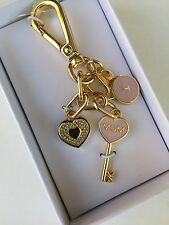 NEW Michael Kors I Love Mom Blossom KeyChain Charm Key Fob Free Shipping