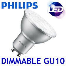Philips Master LED 4.3w Dimmable GU10 Cool White 4000k Light Spot Reflector Bulb