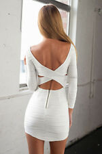 Boldgal Western White Sexy Mini Party Women One-Piece Bodycon Dress