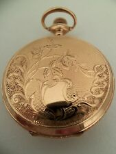 Elgin pocket watch / pendant (14k solid gold Hunter case) 1911