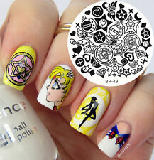 BORN PRETTY Nail Art Stamping Plate Mixed Star Moon Images Template BP49