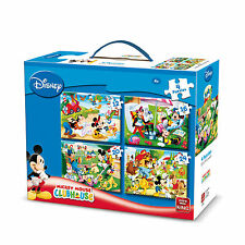 4 IN 1 CHILDRENS BLUE DISNEY MICKEY MOUSE & FRIENDS JIGSAW PUZZLE 05138
