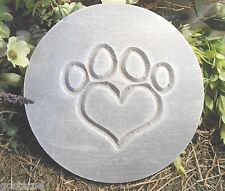 PLASTIC MOLD plaque heart paw plastic mold mould see SS version too.