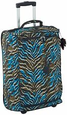 Kipling Teagan Cabin Sized 2 Wheeled Trolley Suitcase, 50 cm, Blue Animal Pr
