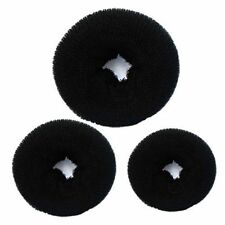 3pcs Women's Magic Black Donuts Bun Former Shaper Hair Ring Styler Maker Tool.