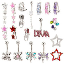 Lot 25 14G Assorted Styles Naval Belly Rings Mixed Barbells Body Jewelry BB-1004