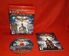 Batman: Arkham Asylum - Game of the Year Greatest Hits (PlayStation 3 PS3, 2010)