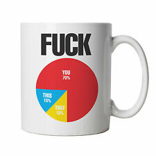 Rude Pie Chart,  Funny Offensive Novelty Gift Mug, Dad Fathers Day