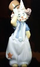 "Lladro #8092 ""The Magician's Hat"" clown w rabbit under hat - MIB, RV$300"