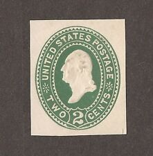 1887 UNITED STATES ENVELOPE EMBOSSED STAMP 2 CENT GREEN UNUSED