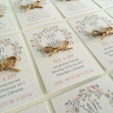 5 Personalised Magnetic Wedding Save the Date / Night Cards with envelope
