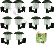 10 x Solar Power Wall Light Fence LED Outdoor Lighting Powered Garden Black
