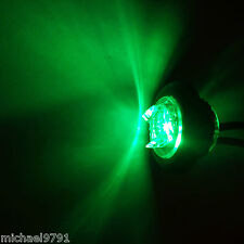 Button 12v 24v GREEN LED Marker light lamp 4x4 A Bar Truck Recovery Side Round