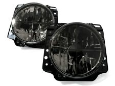 VW Rabbit Golf MK1 1 Beetle Clear Black Euro E-Code Headlight Headlamp Crosshair