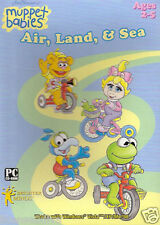 MUPPET BABIES! AIR, LAND & SEA! PC/WINDOWS/VISTA/XP/ME/98! AGES 2-5! FREE SHIP!