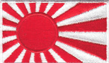 JAPAN FLAG-RISING SUN-JAPANESE-WORLD WAR II- NAVAL-MILITARY-Iron On Patch