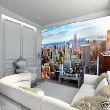 Wall Big Apple sunny day - new york manhattan - 11 pi x 8 pi -
