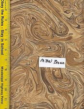 """108"""" WIDE QUILT BACKING FABRIC: MARBLECIOUS, MBW-BROWN 100% COTTON, By The Yard"""