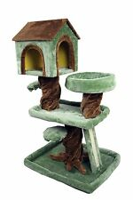 """39"""" Special Robin Hood Cat Tree House Playhouse Pet Bed Kitten Tower Plush Condo"""