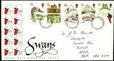 GB FDC 1993 Swans, Stevenage FDI  #C39422