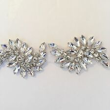 "Crystal Rhinestone Applique  -Rhinestone Trim- Motif 18""/Half Yard - USA Seller"