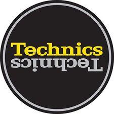 Technics 60659 PAIR Slipmat Duplex 4 Mirror Silver /Yellow on Black /Brand New