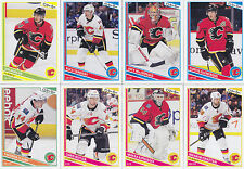 2013-14 O Pee Chee Calgary Flames Complete Base Team Set 16 Different Cards