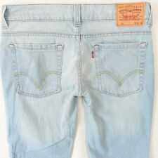 Ladies Womens Levis 602 Flare Leg Light Blue Jeans W32 L28 UK Size 12