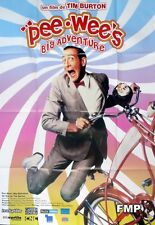 PEE WEE'S BIG ADVENTURE - BURTON / BICYCLE - REISSUE LARGE FRENCH MOVIE POSTER