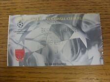 27/02/2002 Ticket: Arsenal v Bayer Leverkusen [Champions League] .  Thanks for v