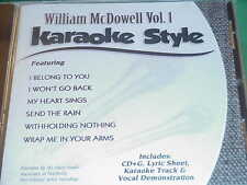 William McDowell~#1~Christian~Daywind~Karaoke Style ~ My Heart Sings ~ CD+G~New