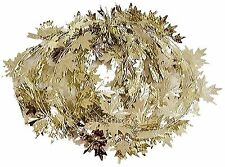Fall Harvest Wire Leaf Garland 25ft Long Silver Gold (set of 2)