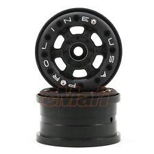 PRO-LINE Titus 2.2 Black Bead-Loc Wheels Traxxas 1:16 E-Revo RC Cars #2713-15