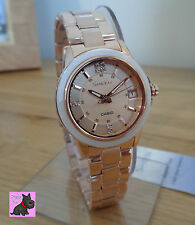 Casio SHE-4512PG-9AUER Ladies Sheen Rose Gold Plated Watch/Swarovski - RRP: £180