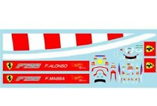 F1 DECALS MUSEUM COLLECTION D723 1/43 FERRARI F138 MASSA OR ALONSO TAXI WEBBER