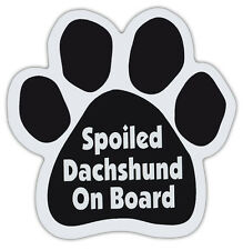 Dog Paw Shaped Magnets: SPOILED DACHSHUND ON BOARD | Dogs, Gifts, Cars, Trucks