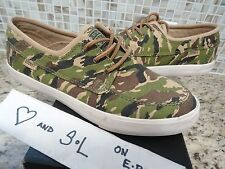 NEW Converse x STUSSY Sea Star OX Green Tan Army CAMO Canvas Suede Sneaker SZ 8