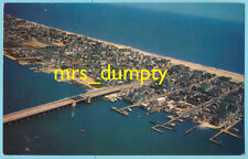 MD Ocean City ~ Aerial View 60s/70s CENTRAL ~ US #50 Bridge Over Sinepuxtent Bay