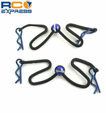Hot Racing Body Clips with Fastened Rubber Leash (Blue) BWP123B06