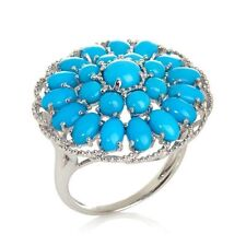 HERITAGE GEMS SLEEPING BEAUTY STERLING SILVER TURQUOISE SIGNATURE RING HSN SZ 7